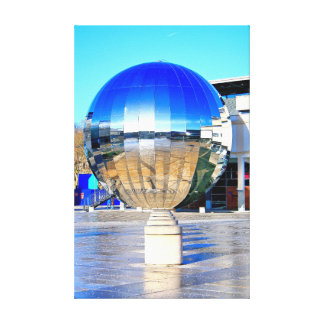 Mirror Ball, Millennium Square, Bristol.(Wall art) Canvas Print