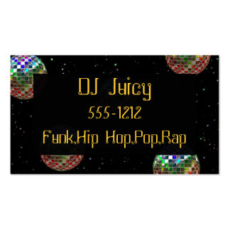 Mirror Ball Party Double-Sided Standard Business Cards (Pack Of 100)