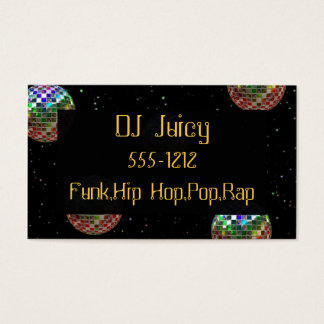 Mirror Ball Party New Year Business Card