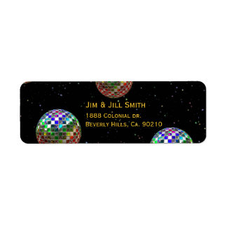 Mirror Ball Party New Year Label