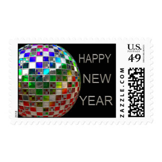 Mirror Ball Party New Year Postage