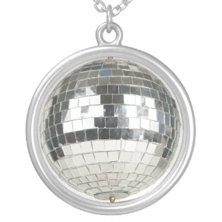 Mirror Ball Pendant Necklace necklace