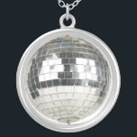 """Mirror Ball Pendant Necklace<br><div class=""""desc"""">Mirror Ball Jewelry. Sterling silver mirror ball necklace and pendant makes great gifts for disco lovers,  dwts fans,  ballroom dancers and anyone who loves a mirror ball! You don&#39;t need a mirror ball trophy when you can wear this mirror ball necklace!</div>"""