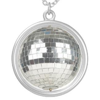 Mirror Ball Pendant Necklace