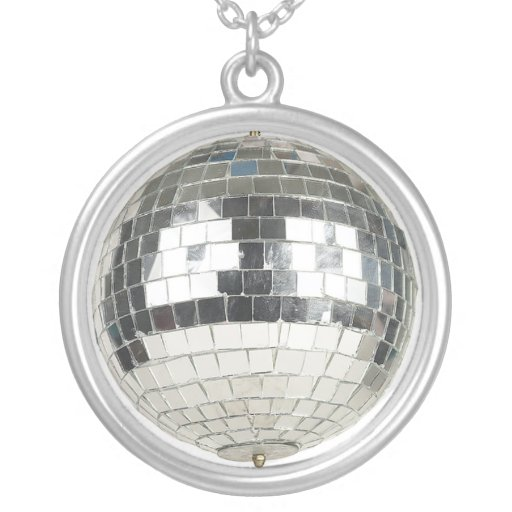 Mirror Ball Pendant Necklace
