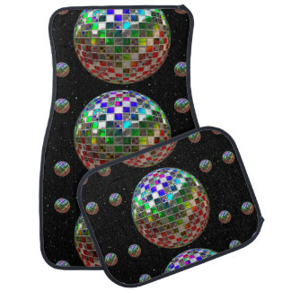 Mirror Ball Rave Party In Space Car Mat