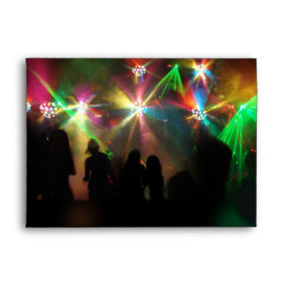 Mirror Balls & Laser Lights Dance Party Envelopes