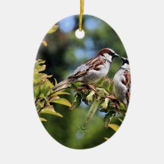 Mirror Biird Ceramic Ornament