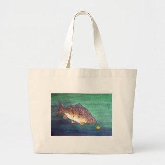 Mirror carp large tote bag