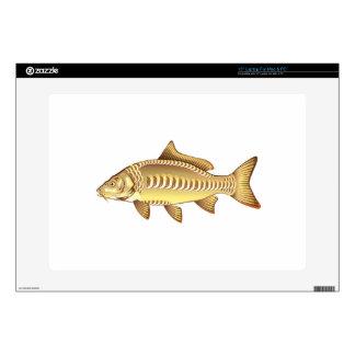 "Mirror Carp Vector Art graphic design file 15"" Laptop Skins"