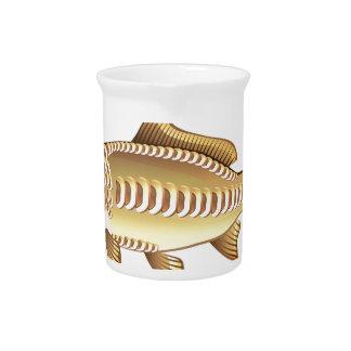 Mirror Carp Vector Art graphic design file Drink Pitcher