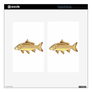 Mirror Carp Vector Art graphic design file Kindle Fire Skin
