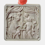 Mirror case depicting a game of chess, c.1300 christmas tree ornament
