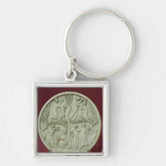 Mirror case depicting courtly scenes, c.1320-30 keychain