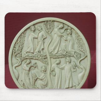 Mirror case depicting courtly scenes, c.1320-30 mouse pad