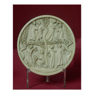 Mirror case depicting courtly scenes, c.1320-30 poster
