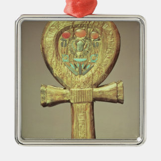 Mirror case in the form of an ankh metal ornament