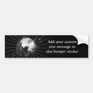 Mirror Disco Ball on Black Car Bumper Sticker