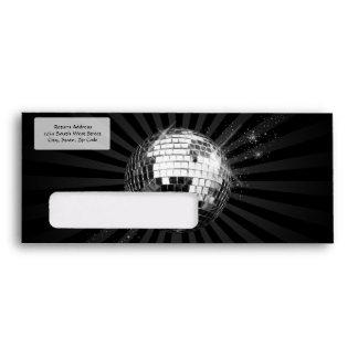 Mirror Disco Ball on Black Envelope