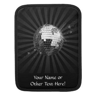 Mirror Disco Ball on Black iPad Sleeves