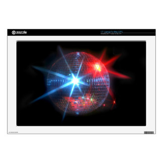 mirror disco ball with laser lights laptop decals