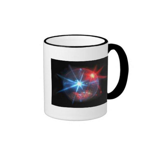 mirror disco ball with laser lights ringer mug