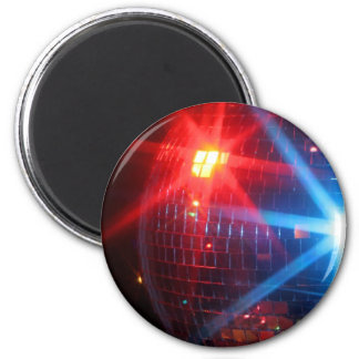 Mirror disco rotating ball with laser lights 2 inch round magnet