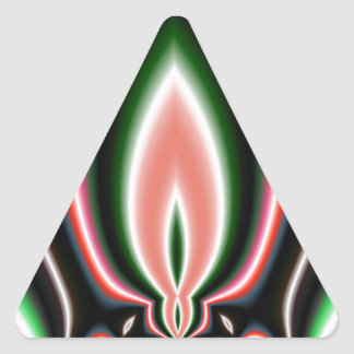 Mirror Flame Abstract Triangle Sticker