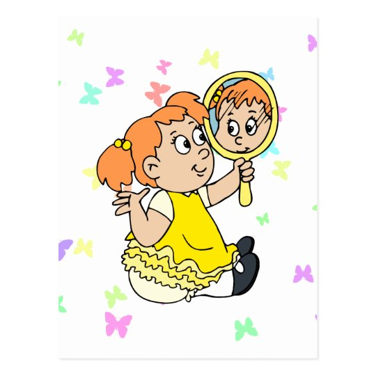 Mirror Girl Postcard