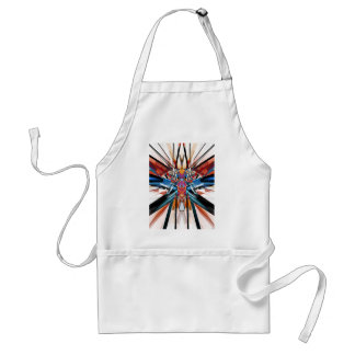 Mirror Image Abstract Adult Apron