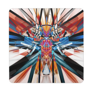 Mirror Image Abstract Puzzle Coaster