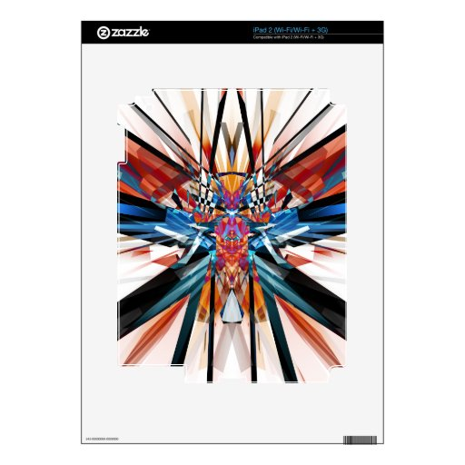 Mirror Image Abstract Skin For iPad 2