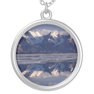 Mirror Image, Greenland Round Pendant Necklace