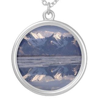 Mirror Image, Greenland Round Pendant Necklace