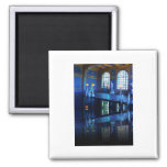 Mirror Image Hearst Castle Indoor Pool 2 Inch Square Magnet