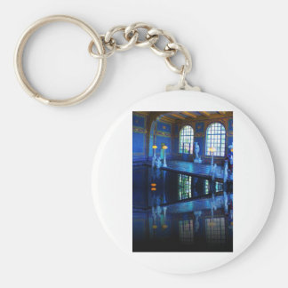 Mirror Image Hearst Castle Indoor Pool Keychain