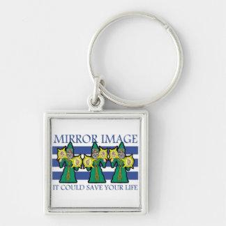 Mirror Image Keychain