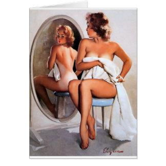 Mirror Image Pin Up Card