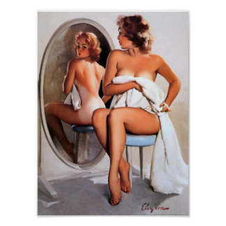 Mirror Image Pin Up Poster