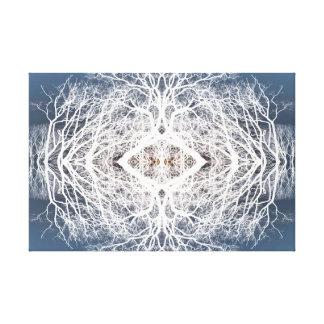 Mirror image tree pattern canvas print