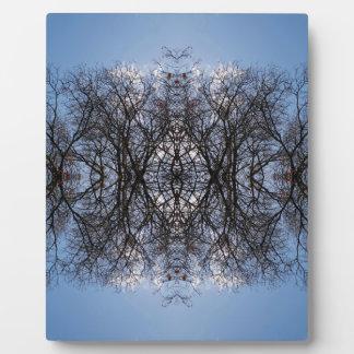 Mirror image trees plaque