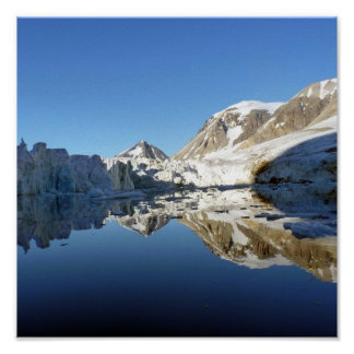Mirror images in Svalbard Print