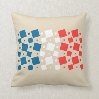 Mirror Inspired by France Flag Throw Pillow