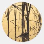 mirror is a liar classic round sticker