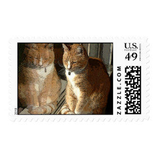 Mirror Kitty Stamps
