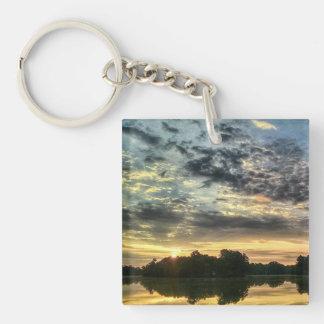 Mirror lake 3 Single-Sided square acrylic keychain