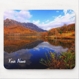 Mirror Lake Autumn Landscape Reflection Water Fall Mouse Pad