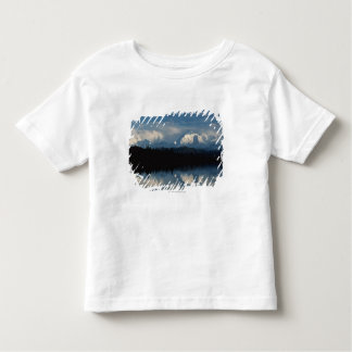 Mirror Lake Horizon with Forest & Snowy Mountains Toddler T-shirt