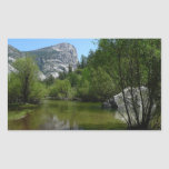 Mirror Lake I in Yosemite National Park Rectangular Sticker