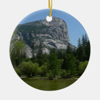 Mirror Lake II in Yosemite National Park Ceramic Ornament